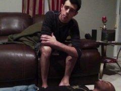 Young master spit on black slave