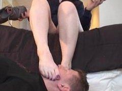 Lauren's Foot Slave Training (2/2)