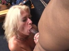 Blond MILF From SEXDATEMILF.COM Deep Throats a Big Black Cock