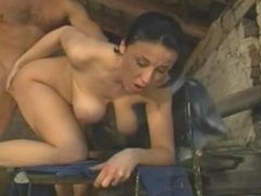 Cock hungry big tits farmer milf stepmom fucks the mechanic