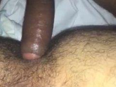 Bare uncut cock