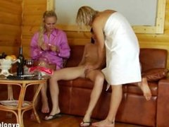 Russian lesbian threesome