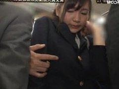 cute japanese schoolgirl seduced by geek in bus 11