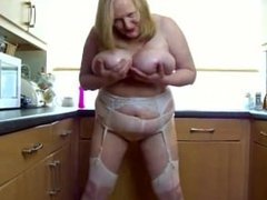 Sexy bbw mature play with her big . Laurette from 1fuckdate.com