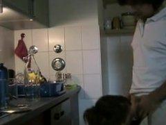 dailymilfsex(dot)com fucking milf doggy in kitchen
