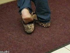 aged cheddar flats [freebie] candid feet