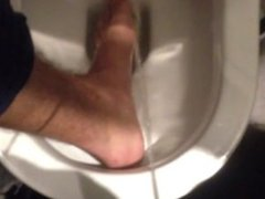 PIssing on my foot in public