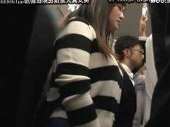 cute japanese schoolgirl seduced by geek in bus 21