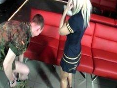 German Amateur Girl Frecher Jung-Soldat