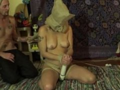 Quinn tied up , face fuck , pussy plowed , ass plugged and spunked on.