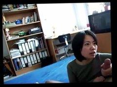 Sexy asian milf From SEXDATEMILF.COM gives a handjob