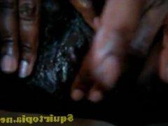 Ebony Close Up Pussy Rub & Cum