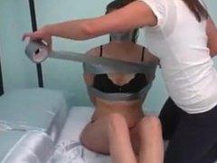 Girl tape bound girl