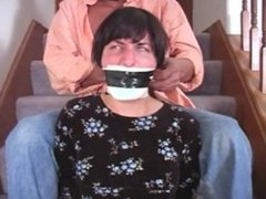 Tape gagged housewive