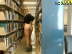 fapping in the library