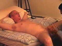 Bald guy blowjob by Bobby