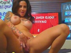 Busty Babe Rubs her Pussy and Toys her Ass