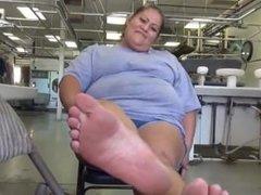 bbw latina's sexy pudgy soles