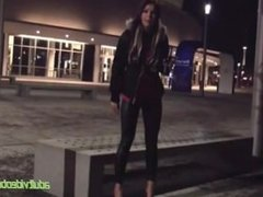 German Amateur Girl Dirty Talk Deluxe - Public! GERMANGST