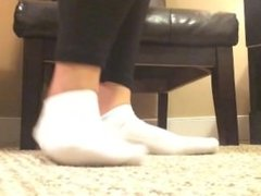 Playing in White Ankle Socks