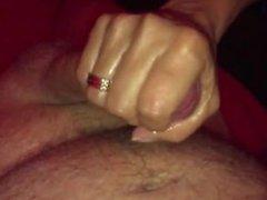 Awesome Amateur Handjob - Cumming on Himself