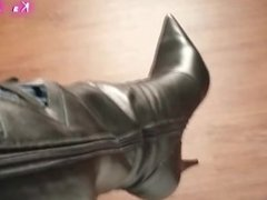 Enjoying my leather boots