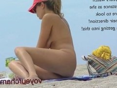 Voyeurchamp.com Mrs Brooks Nude Beach Voyeur Video! Hubby Set her Up!