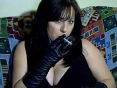 Leather Gloves Smoking Full Clip (Fetish Leather Gloves Smoking)