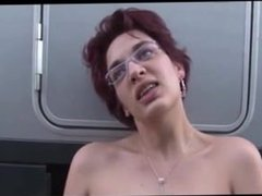 rom SEXDATEMILF.COM French Anal and fist fucking in a Truck parking