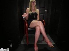 Gloryhole Secrets hot teen blonde swallows strangers cum