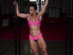 Gabriella Bankuti Gym Workout Photoshooting Video Part 1