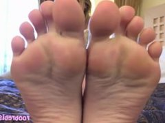 Perfect Pedicure On Polish Feet