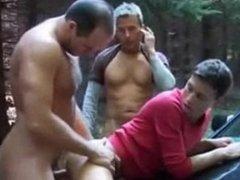 2 Daddys Fuck Boy Bareback Outdoors