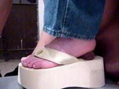 shoe job cumshot toes goddess Latina mature gagged joi Hot