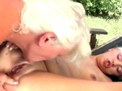 Busty granny From LOOK4MILF.COM fucks young sexy girl