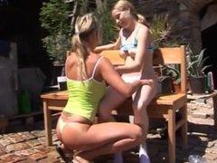 Porno teen homo Kate & Tanya in the sun