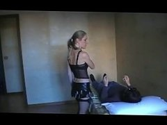 Trampled and Beaten with Black Stockings