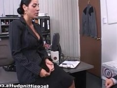 Employee from LOOK4MILF.COM fucks the boss and keeps his lousy job