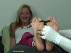 Jessica feet tickled