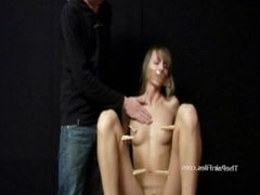 Debutant submissives amateur bdsm and clothes pegged russian slaves in hot