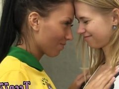 Girl sex small teen Brazilian player pulverizing the referee