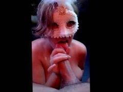 Masked housewife cheating her husband