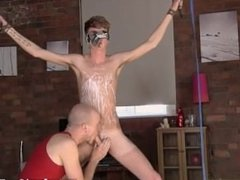 Gay orgy Kieron Knight likes to deep-throat the torrid jizz stream right