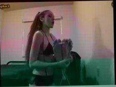 Guy Foot Tickled by Girl in Bikini