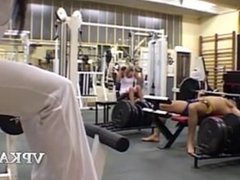 Blonde French Woman Fucks in the Gym