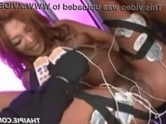 Roped And Toyed Hairy Asian Teen