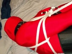 Michelle Tied In Black Spandex.. Clips4sale.com/96993