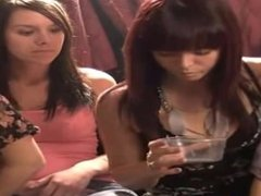Pretty girls spitting huge loogies