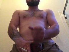 Str8 Smoking and Cumming ( Jerk off & Cum )