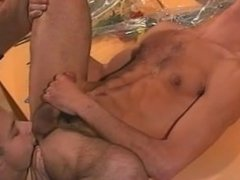 Gay rimming by a twink & cumming